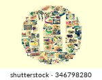 collage of lots of popular... | Shutterstock . vector #346798280