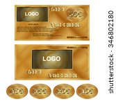 vector gift voucher gold... | Shutterstock .eps vector #346802180