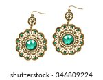 ethnic lacy gold earrings