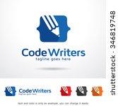 code writers logo template... | Shutterstock .eps vector #346819748
