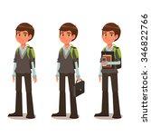 schoolboy in school uniform  ... | Shutterstock .eps vector #346822766