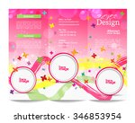 tri fold brochure template... | Shutterstock .eps vector #346853954