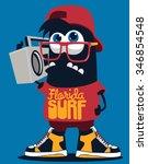 cool monster  | Shutterstock .eps vector #346854548