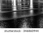 night light reflection on wet... | Shutterstock . vector #346860944