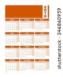 calendar 2016 spanish. vector...   Shutterstock .eps vector #346860959