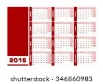 calendar 2016 spanish. vector...   Shutterstock .eps vector #346860983