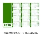 calendar 2016 spanish. vector...   Shutterstock .eps vector #346860986