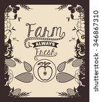 farm fresh food design  vector... | Shutterstock .eps vector #346867310