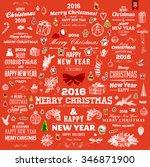 christmas decorations set.... | Shutterstock .eps vector #346871900