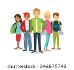vector group of students | Shutterstock .eps vector #346875743