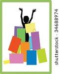 girl on shopping   Shutterstock .eps vector #34688974