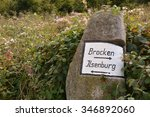 signpost on a hiking trail | Shutterstock . vector #346892060