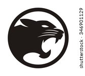 panther black circle | Shutterstock .eps vector #346901129