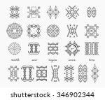 set of minimal geometric... | Shutterstock .eps vector #346902344