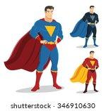 male superhero standing with... | Shutterstock .eps vector #346910630