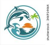 dolphin in beach | Shutterstock .eps vector #346914464