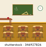 classroom interior  place for... | Shutterstock .eps vector #346927826