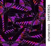 exotic velvet purple background ... | Shutterstock . vector #346930826