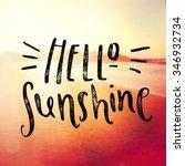 inspirational typographic quote ... | Shutterstock . vector #346932734