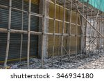 demolition of an old factory... | Shutterstock . vector #346934180