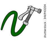 water spray gun with hose | Shutterstock .eps vector #346943204