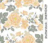 vintage floral seamless...   Shutterstock .eps vector #346943429