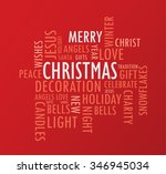 typography christmas words  ... | Shutterstock .eps vector #346945034