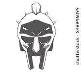 gladiator helmet vector... | Shutterstock .eps vector #346946099