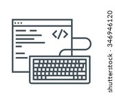 coding icon suitable for info... | Shutterstock .eps vector #346946120