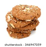 chip cookies on white... | Shutterstock . vector #346947059