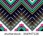 geometric ethnic pattern design ... | Shutterstock .eps vector #346947128