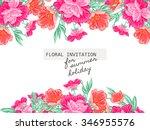 romantic invitation. wedding ... | Shutterstock .eps vector #346955576