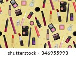 christmas pattern with cosmetics | Shutterstock .eps vector #346955993