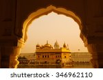 amritsar golden temple   india. ... | Shutterstock . vector #346962110