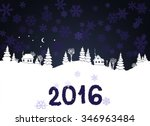 New Year 2016 Background With...