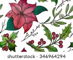 vector seamless pattern with... | Shutterstock .eps vector #346964294