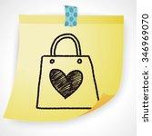 doodle love shopping   Shutterstock . vector #346969070