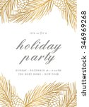holiday party invitation... | Shutterstock .eps vector #346969268