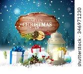 christmas greeting card   white ... | Shutterstock .eps vector #346971230