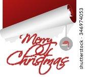 a trendy christmas design for... | Shutterstock .eps vector #346974053