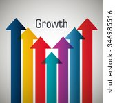 business profits growth graphic ... | Shutterstock .eps vector #346985516