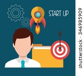 start up company and business... | Shutterstock .eps vector #346985909