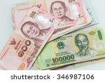 vietnamese money  dong  and... | Shutterstock . vector #346987106