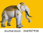 Thailand Elephant Statue  With...