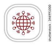 mark icon  pointer. icon.... | Shutterstock .eps vector #346991000