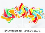 the candy stick on the white... | Shutterstock . vector #346991678