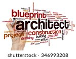 architect word cloud | Shutterstock . vector #346993208