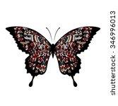 decorative boho butterfly... | Shutterstock .eps vector #346996013