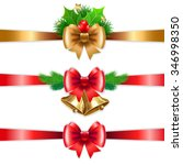 christmas holiday decoration... | Shutterstock . vector #346998350