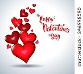 hearts and original hand...   Shutterstock . vector #346998590